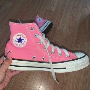 Converse Pink High Chuck Taylors (6)